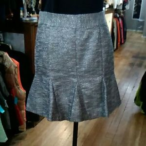 Pre-owned Banana Republic Silver Metalic Skirt